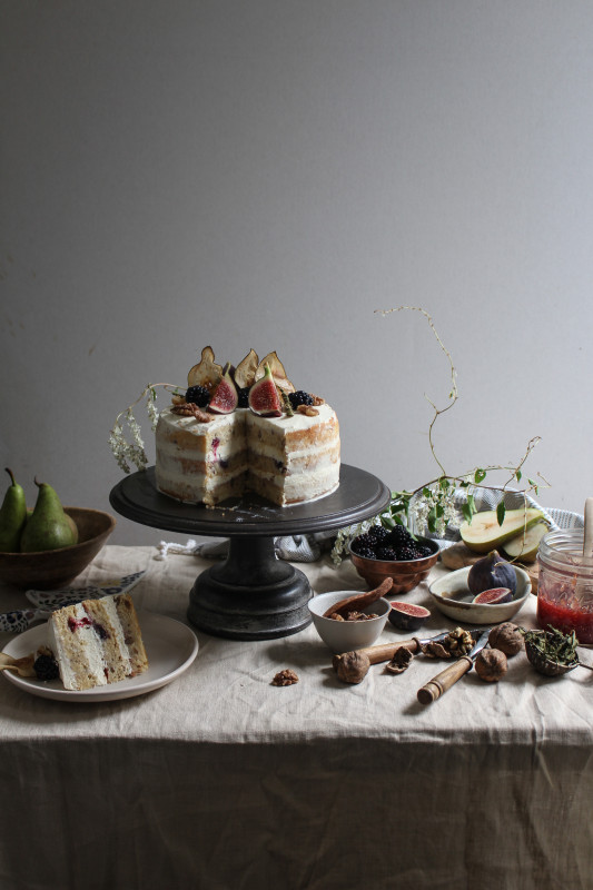 blackberry pear and walnut cake with fig verbina jam-1-9