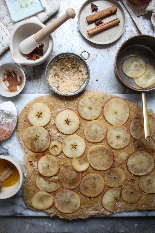 bonfire night spiced apple parkin rolls-1-3