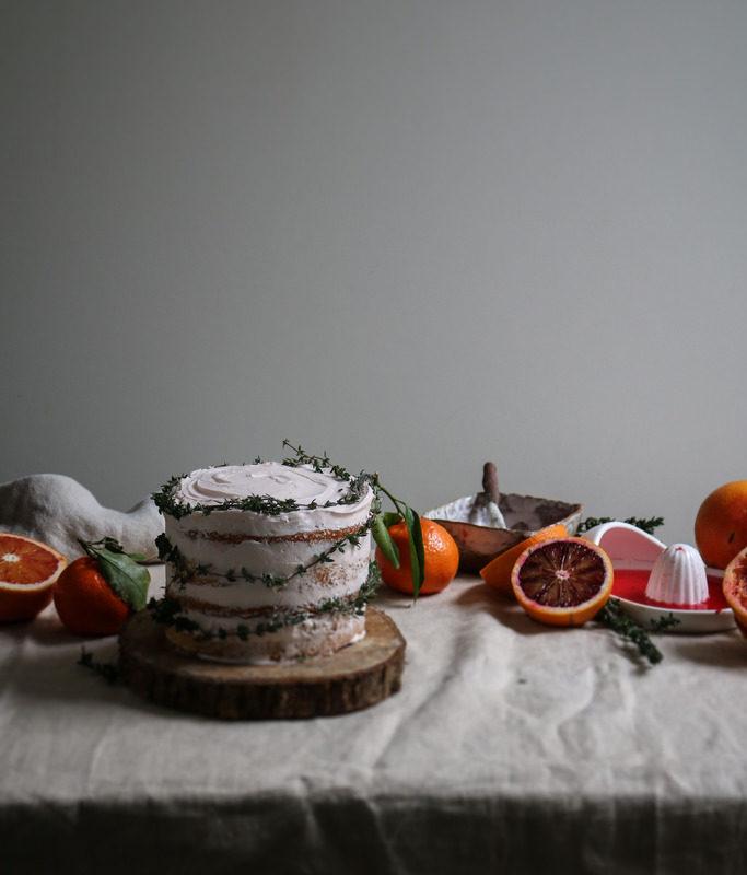 Banana, Walnut, Fig And Honey Cake With Blackberry Cream
