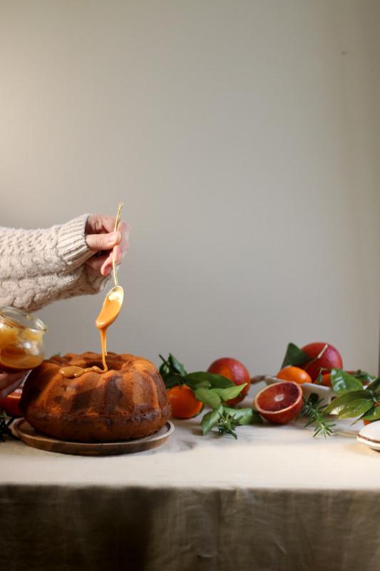 orange rosemary dulce de leche marble cake 2