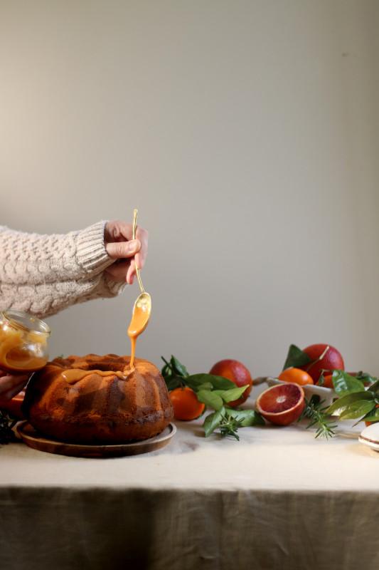 orange rosemary dulce de leche marble cake 3