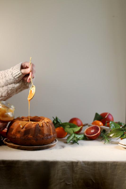 orange rosemary dulce de leche marble cake 4