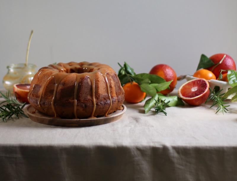 orange rosemary dulce de leche marble cake 7
