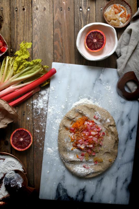 rye rhubarb ginger and orange hot cross buns 4