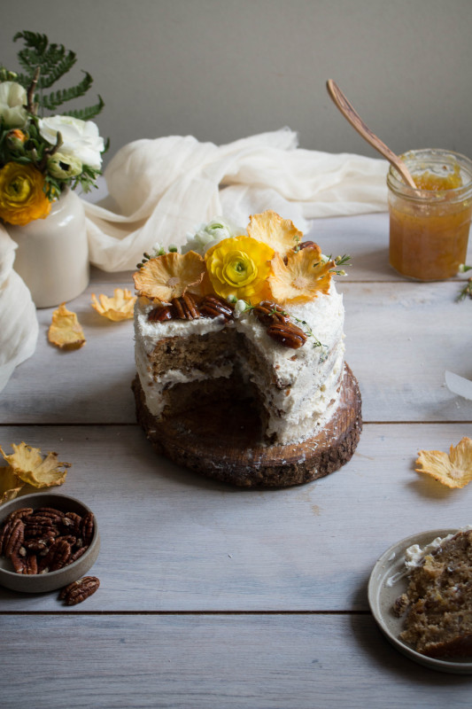 hummingbird cake with pineapple lime jam-1-29