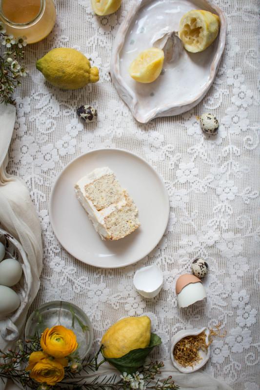 lemon poppy seed cake with honey black tea frosting-1-35