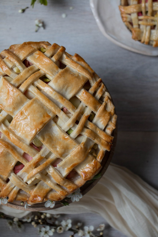 apple rose and rhubarb and pistachio pie-1-25