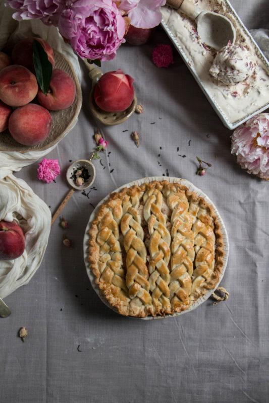 peach tea pie and rose icecream-1-10