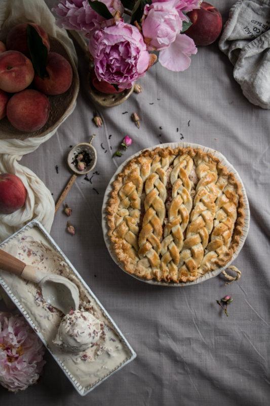 peach tea pie and rose icecream-1-13