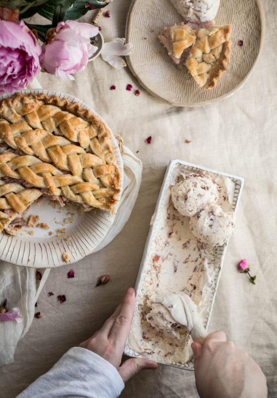 peach tea pie and rose icecream-1-26