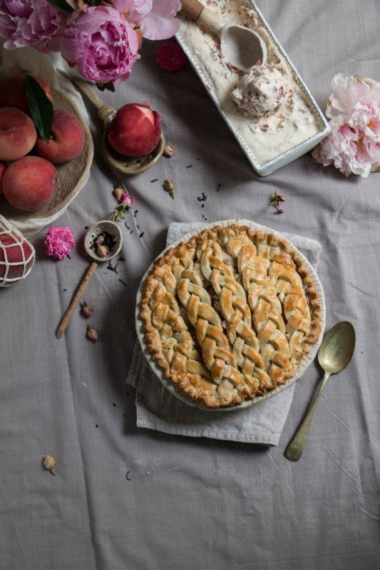 peach tea pie and rose icecream-1-8