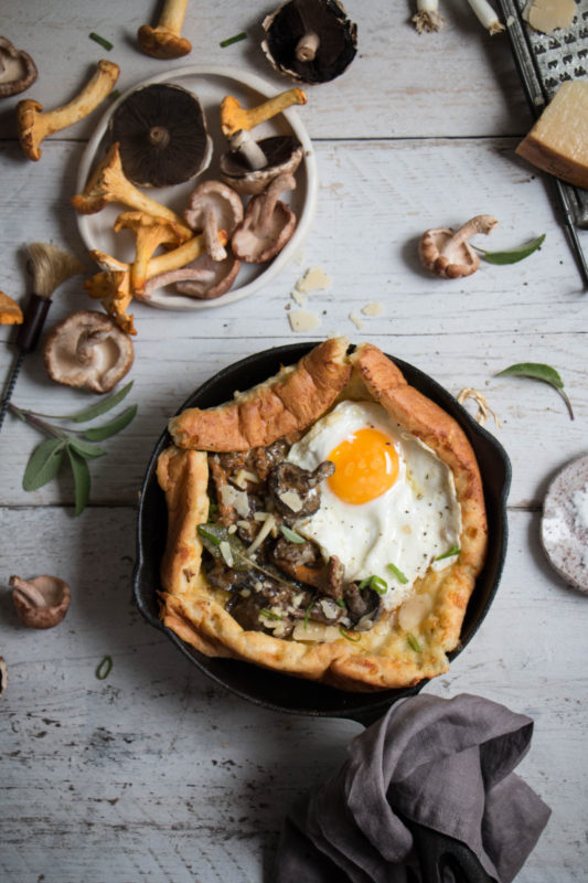 savoury dutch baby pancake with creamy mushrooms-1-3