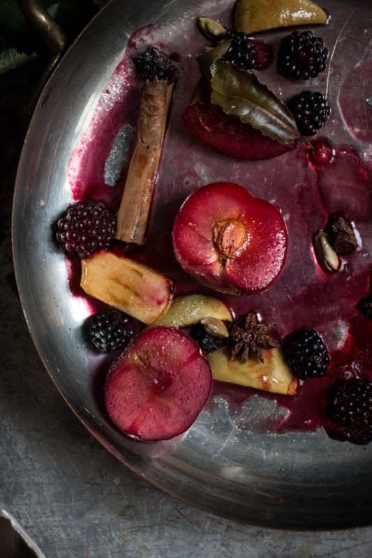 earl grey icecream with spiced fruit-1-4