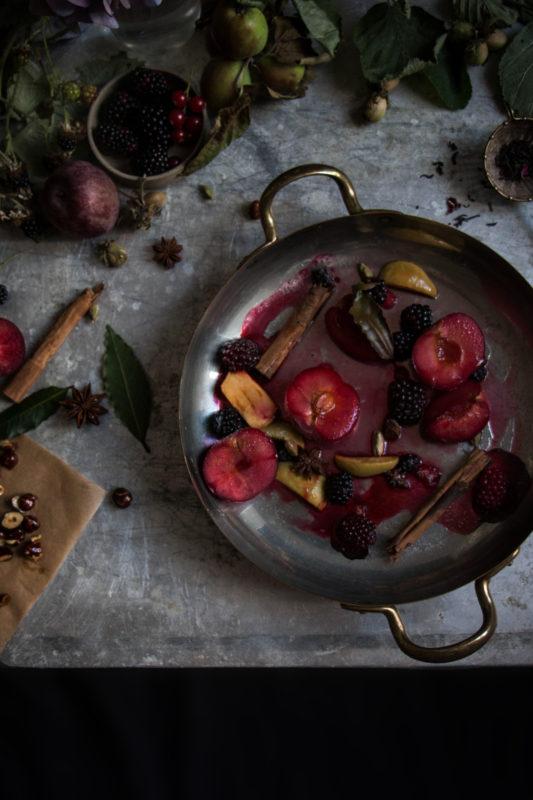 earl grey icecream with spiced fruit-1-5-1