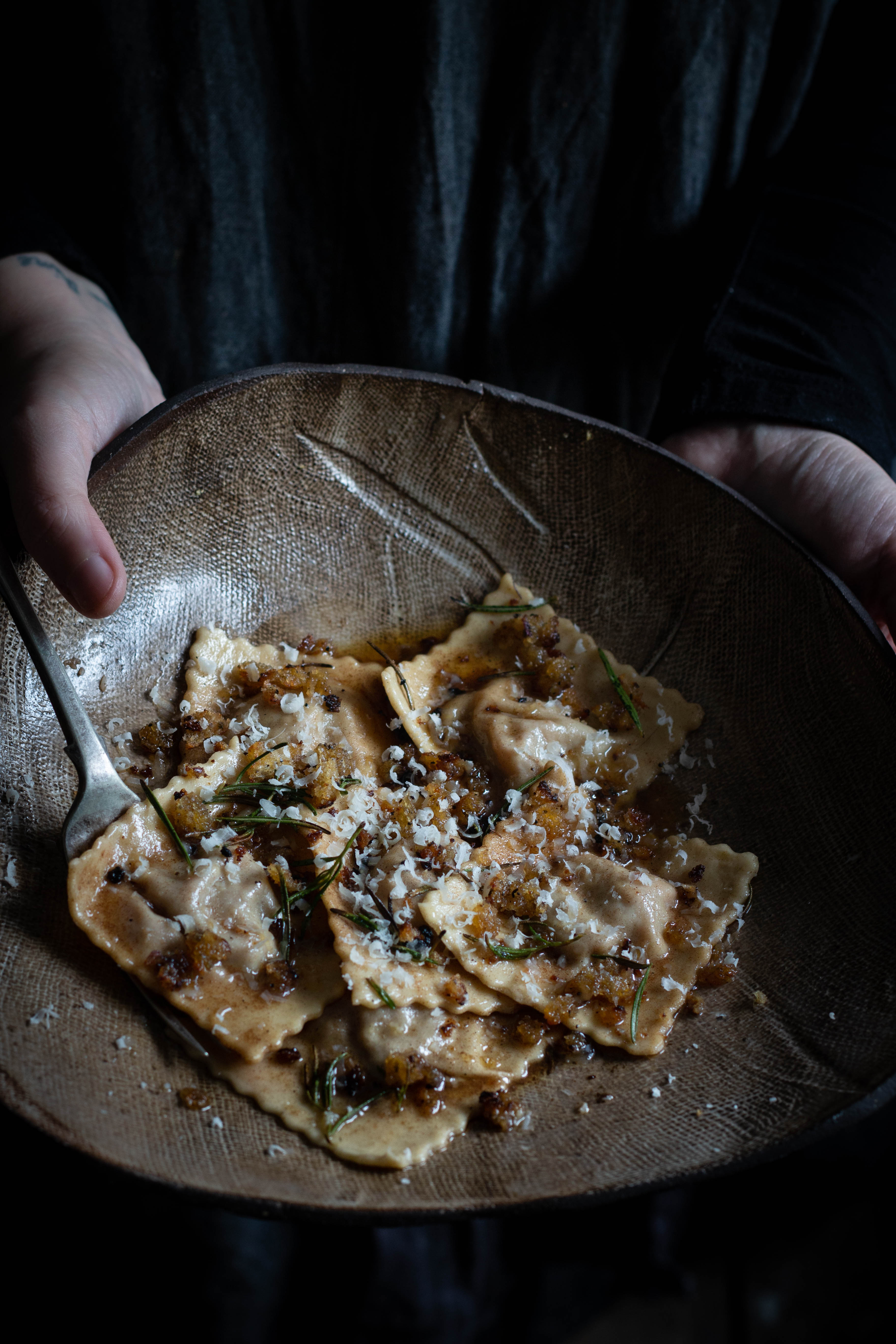 Braised lamb ravioli and wine pairing suggestions