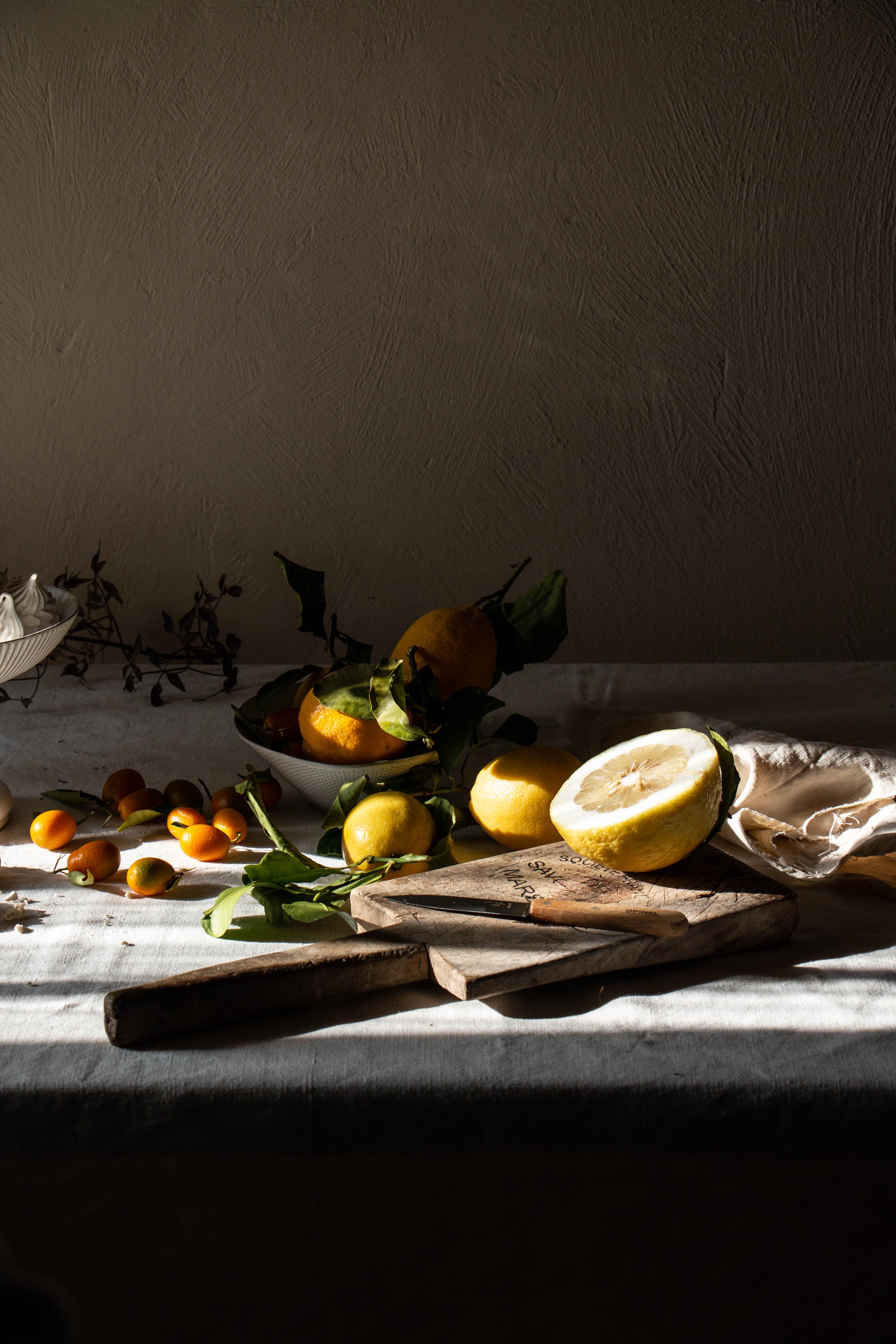 still life photography citrus