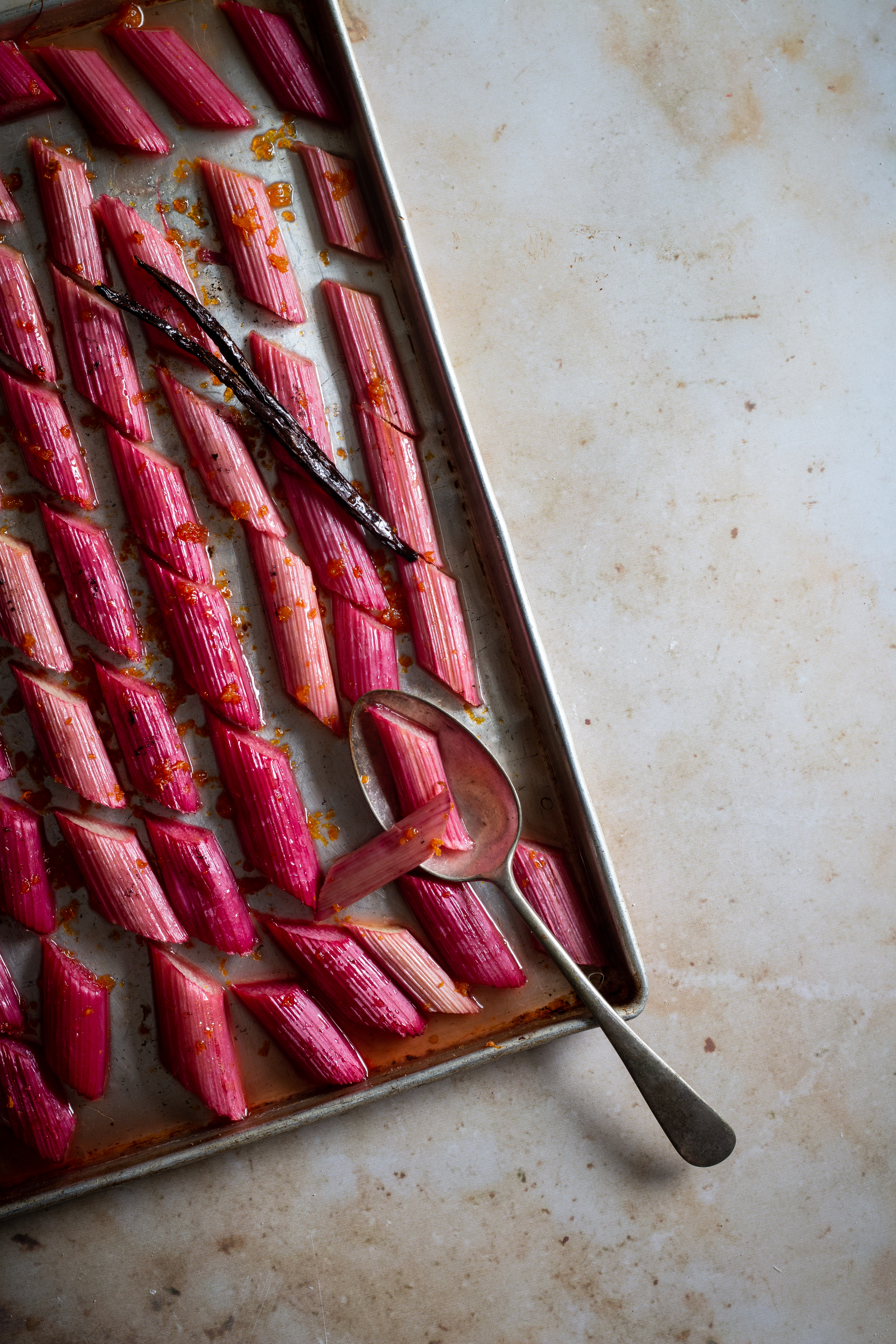 labneh and rhubarb