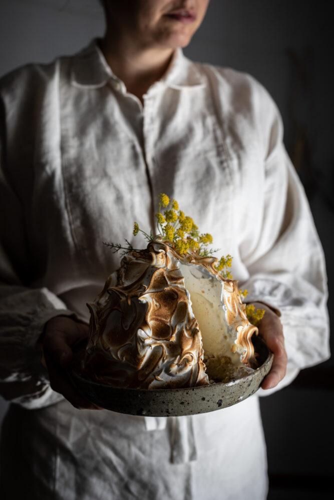 fennel pollen ricotta baked alaska