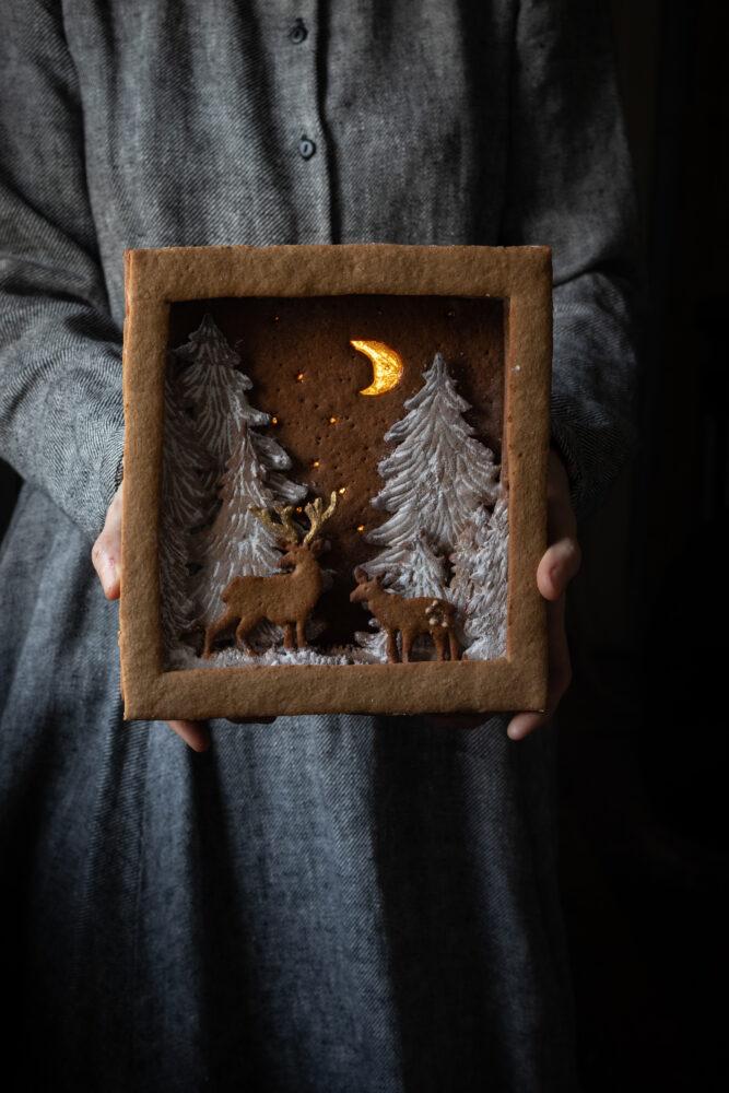 gingerbread shadow box