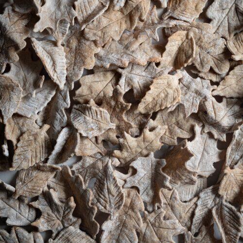 leaf rye crackers