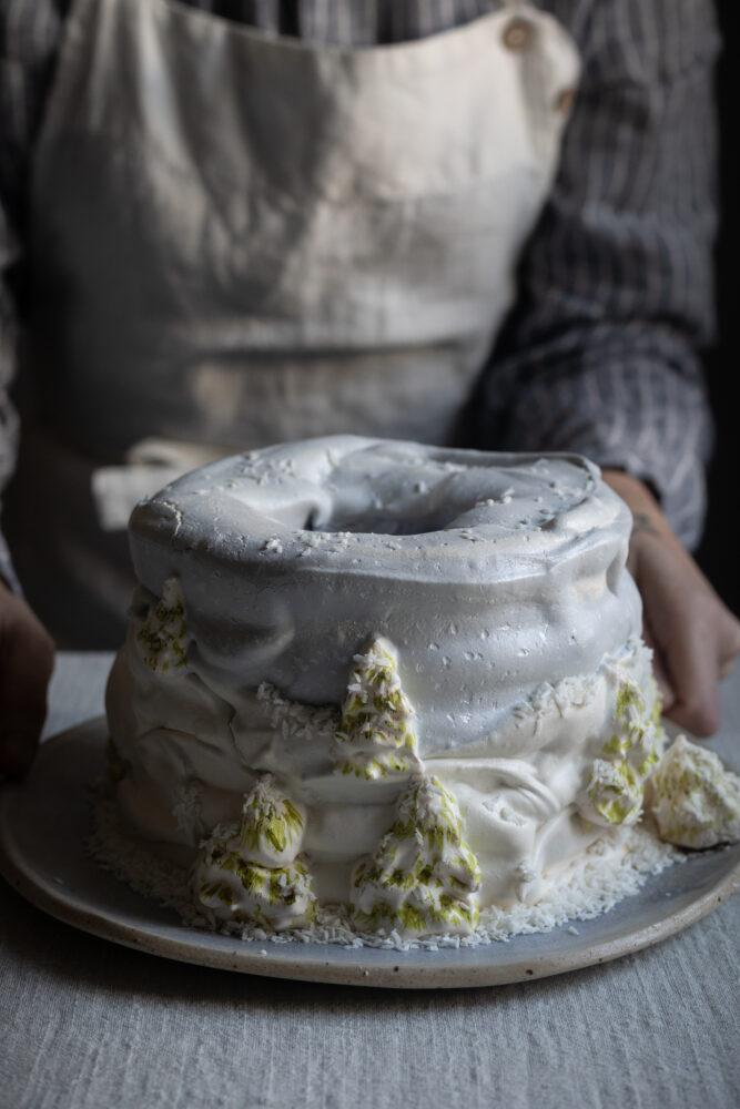 meringue snow cake