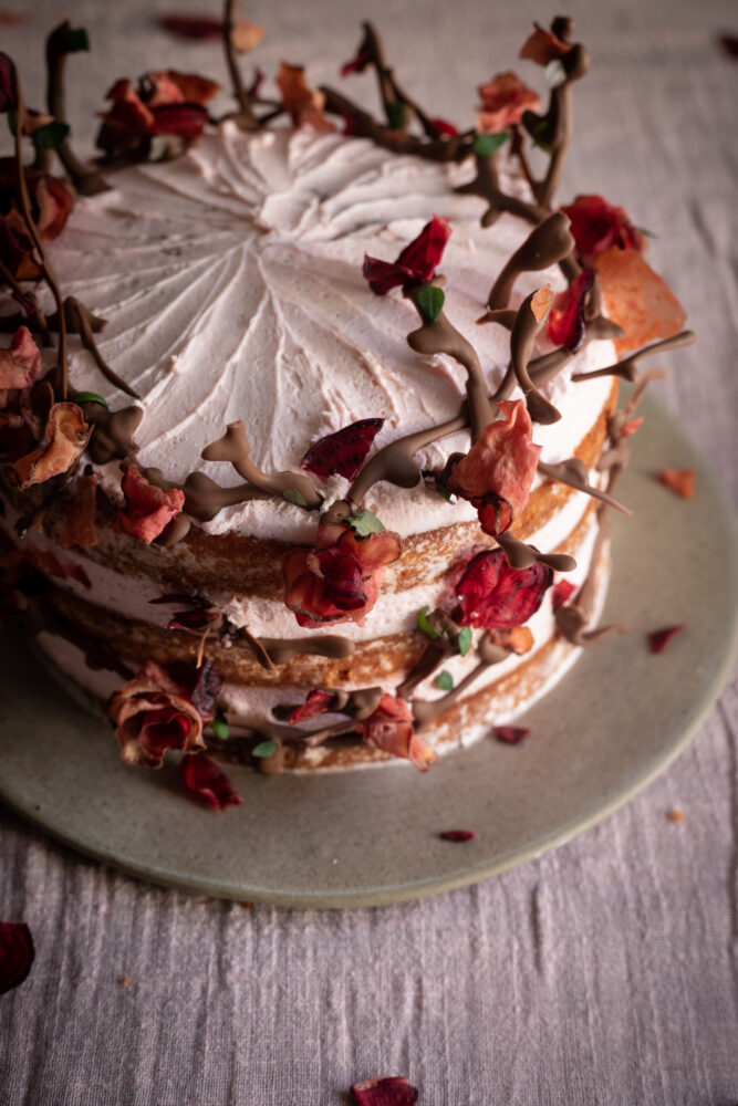 beetroot stem ginger and citrus cake