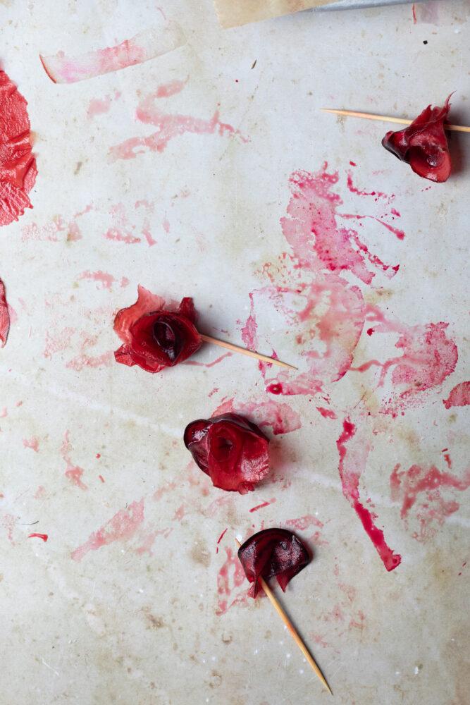 candied rhubarb