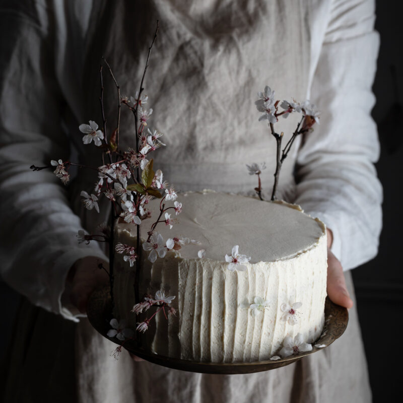 earl grey orange and cardamom chiffon cake