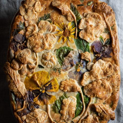 leek and potato pie