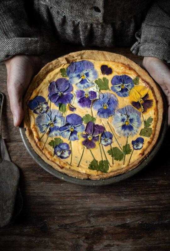 Ricotta and Parmesan cheesecake tart