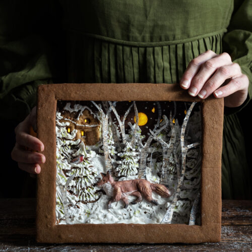 Gingerbread shadow box