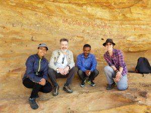 Helina Woldekiros, Professor Keith Dobney, local Ethiopian guide, and Ophelie Lebrasseur
