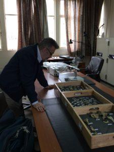 Professor Keith Dobney observing human bones