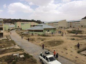 University buildings in Ethiopia.