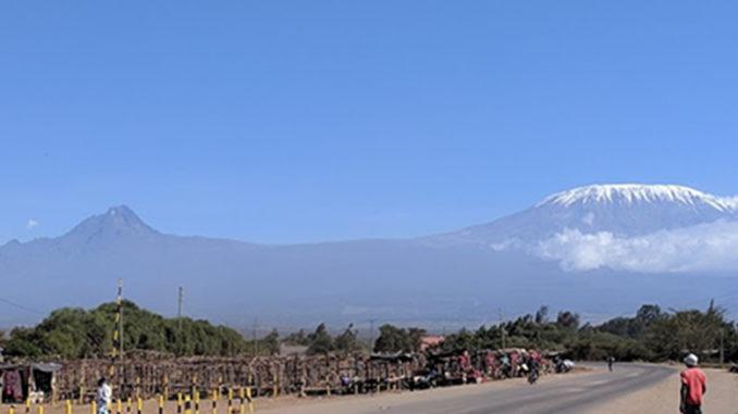 View of Kilimanjaro from Oloitokitok