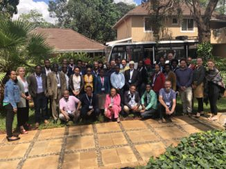 Group photo of all delegates from the HORN 2019 Sandpit event.
