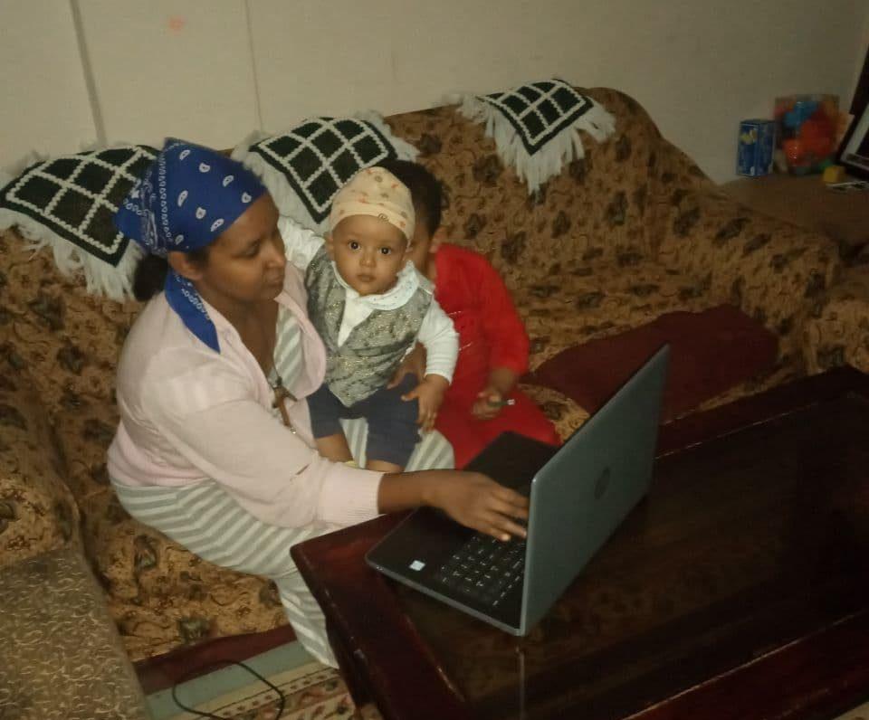 Manalebish working from home