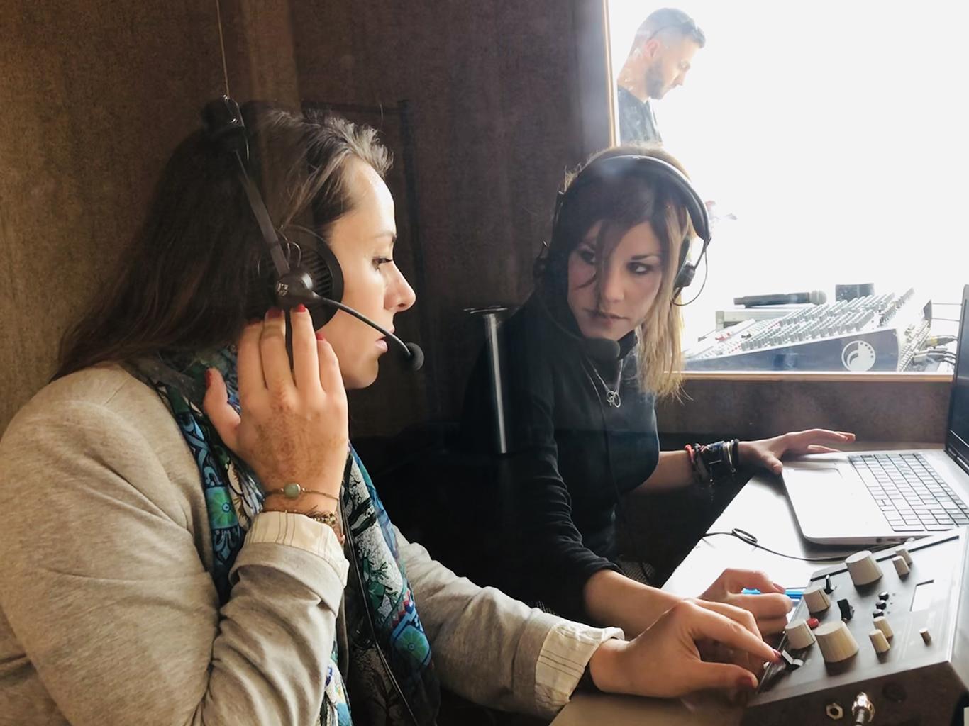 Translators at a conference in Mallorca