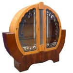 Maple & Walnut Art Deco Display Cabinet