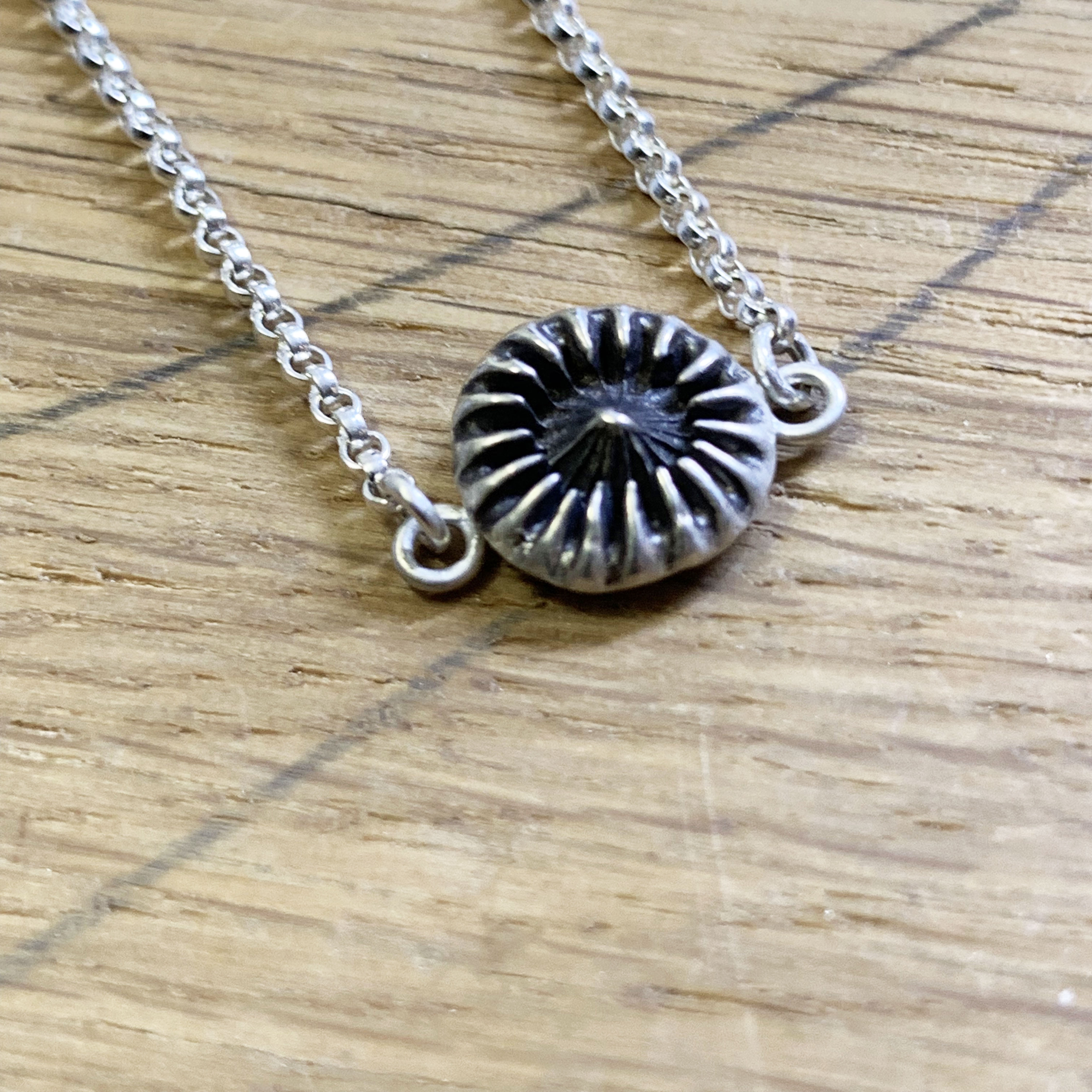 Urchin silver necklace