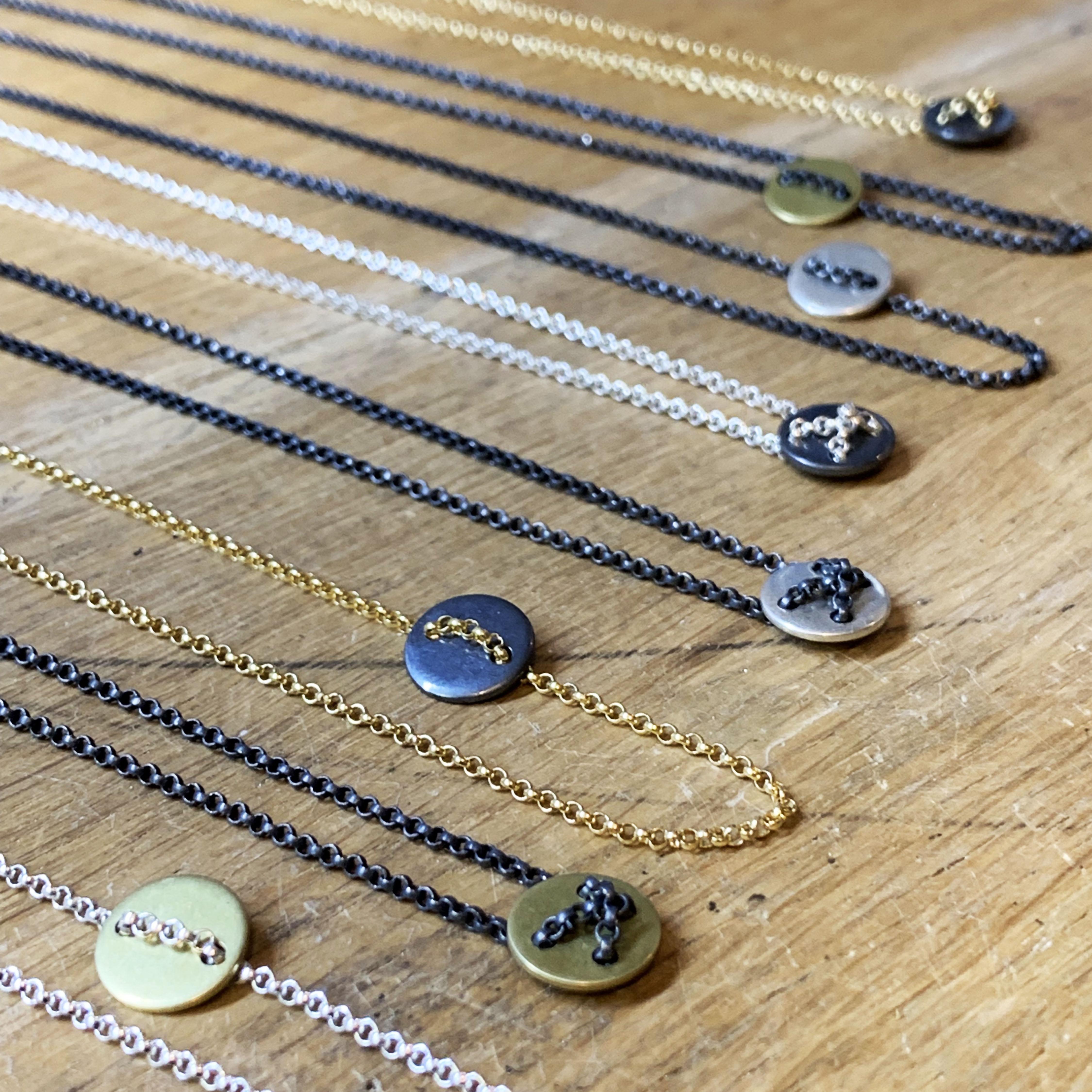 Lifeline silver necklace