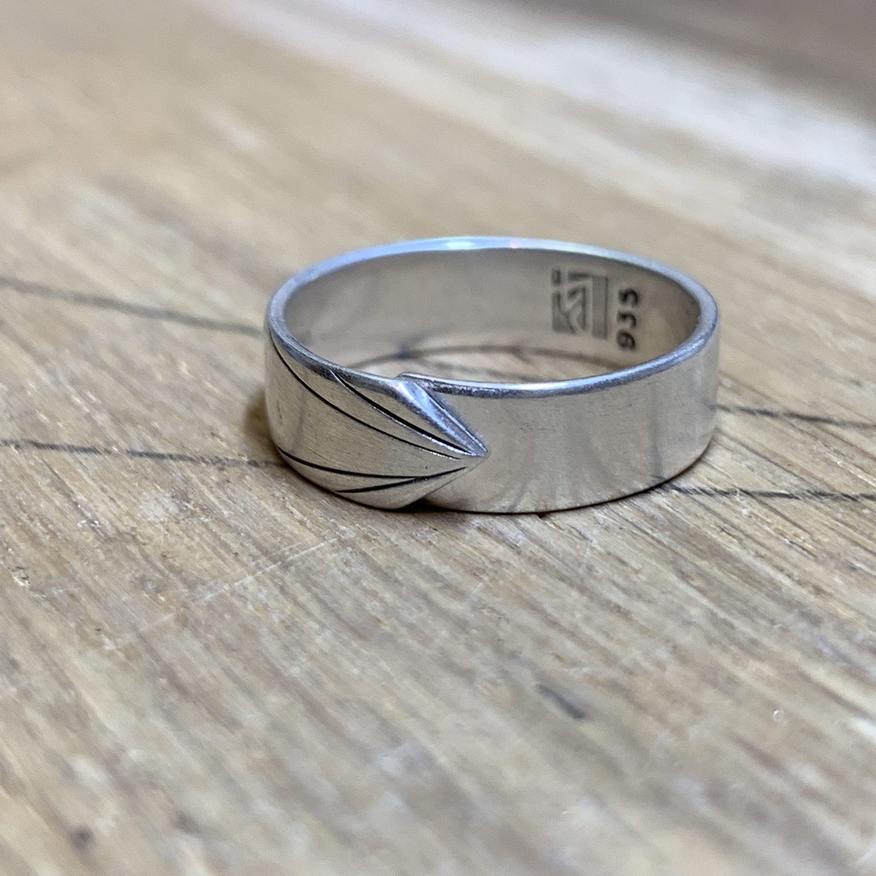 Skinny version New beginning silver ring – Direction
