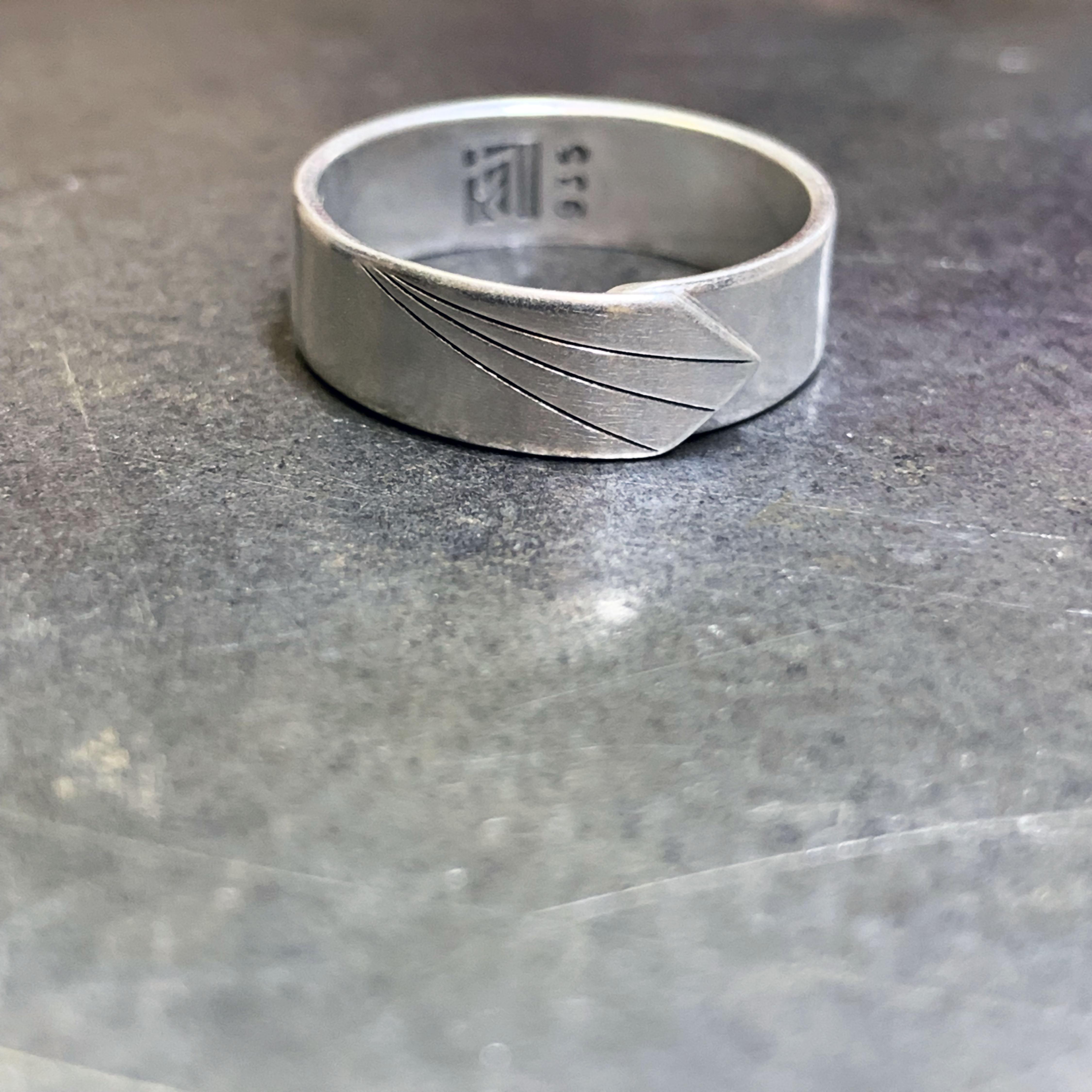 Skinny version New beginning silver ring – Vision