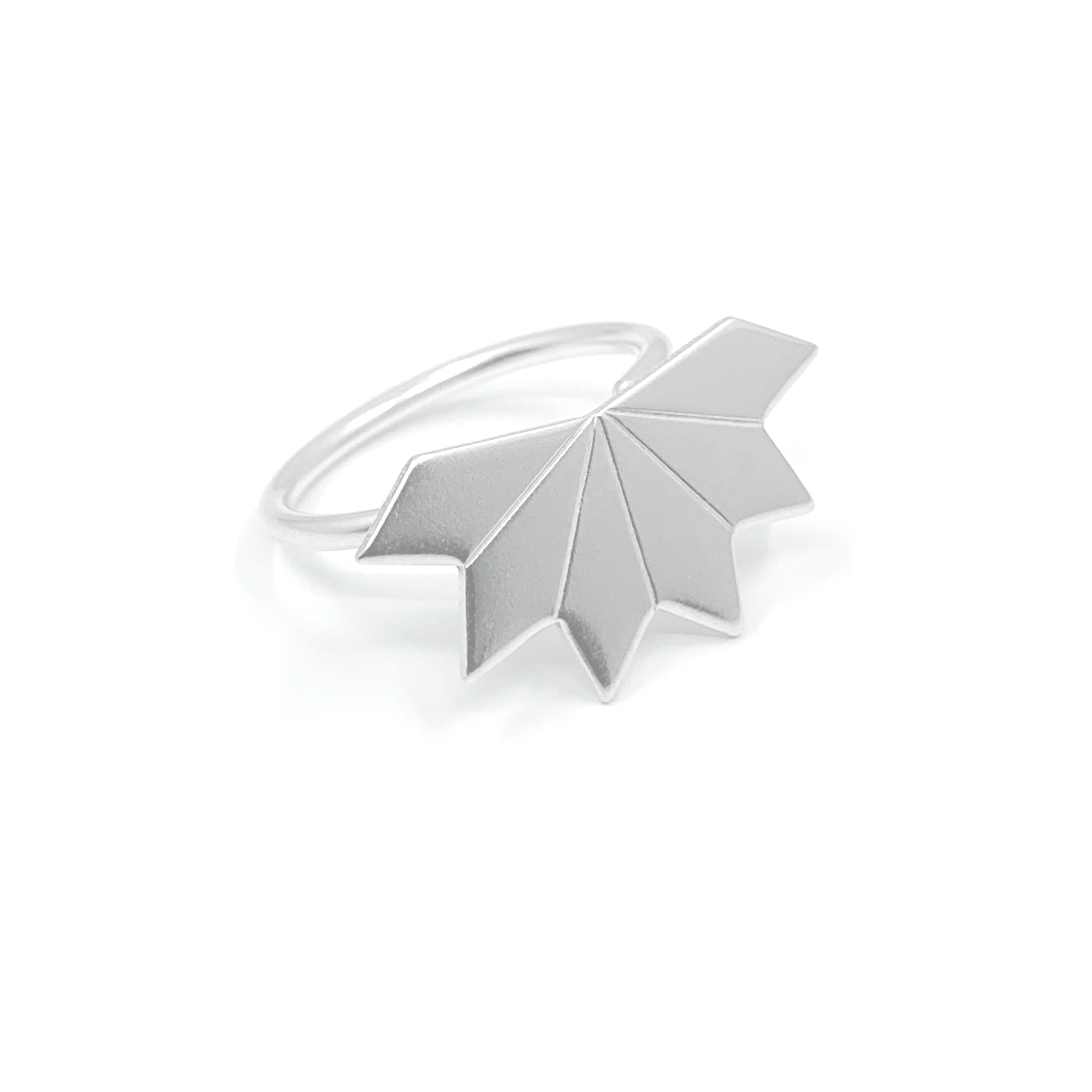 Star fragment silver ring