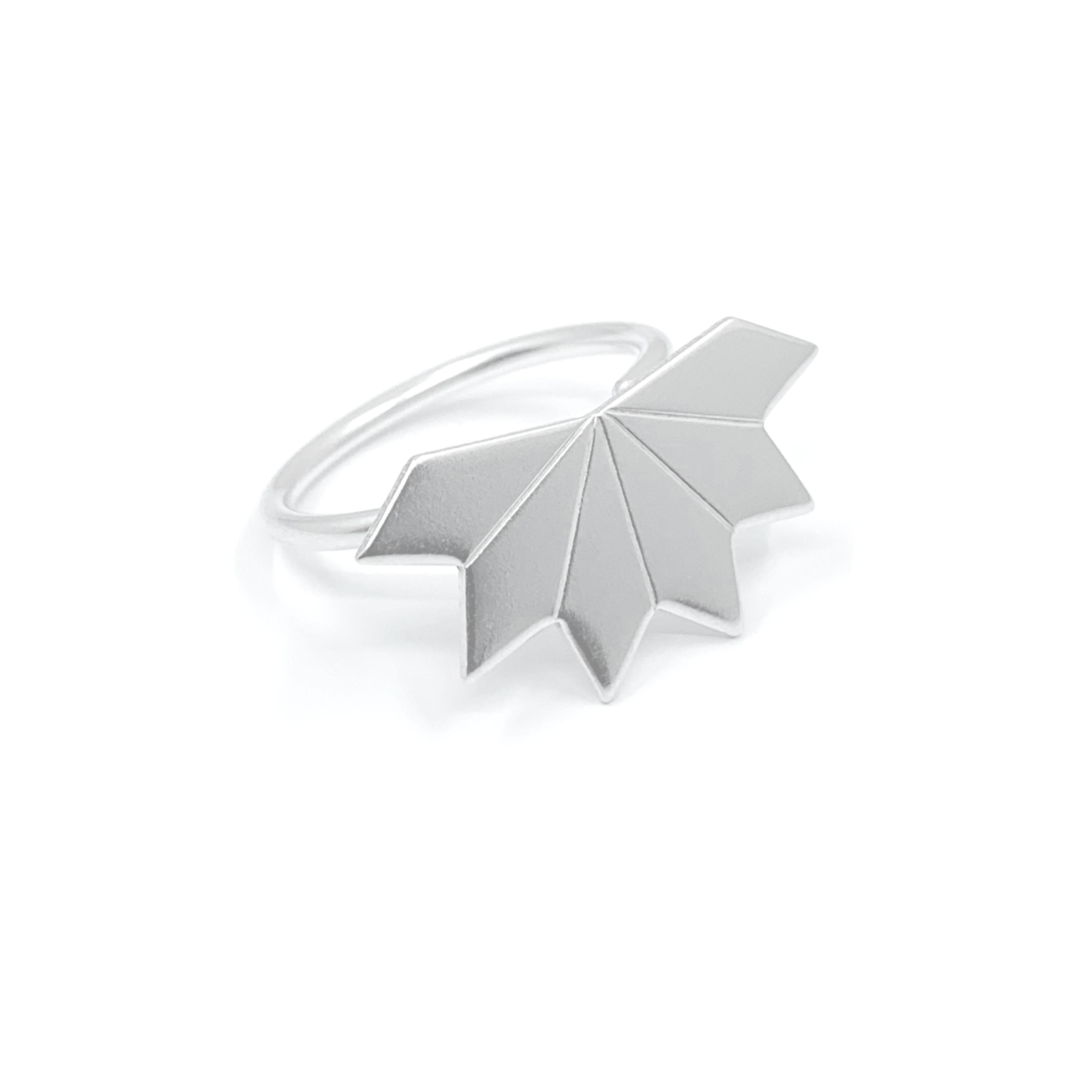 Star fragment silver ring