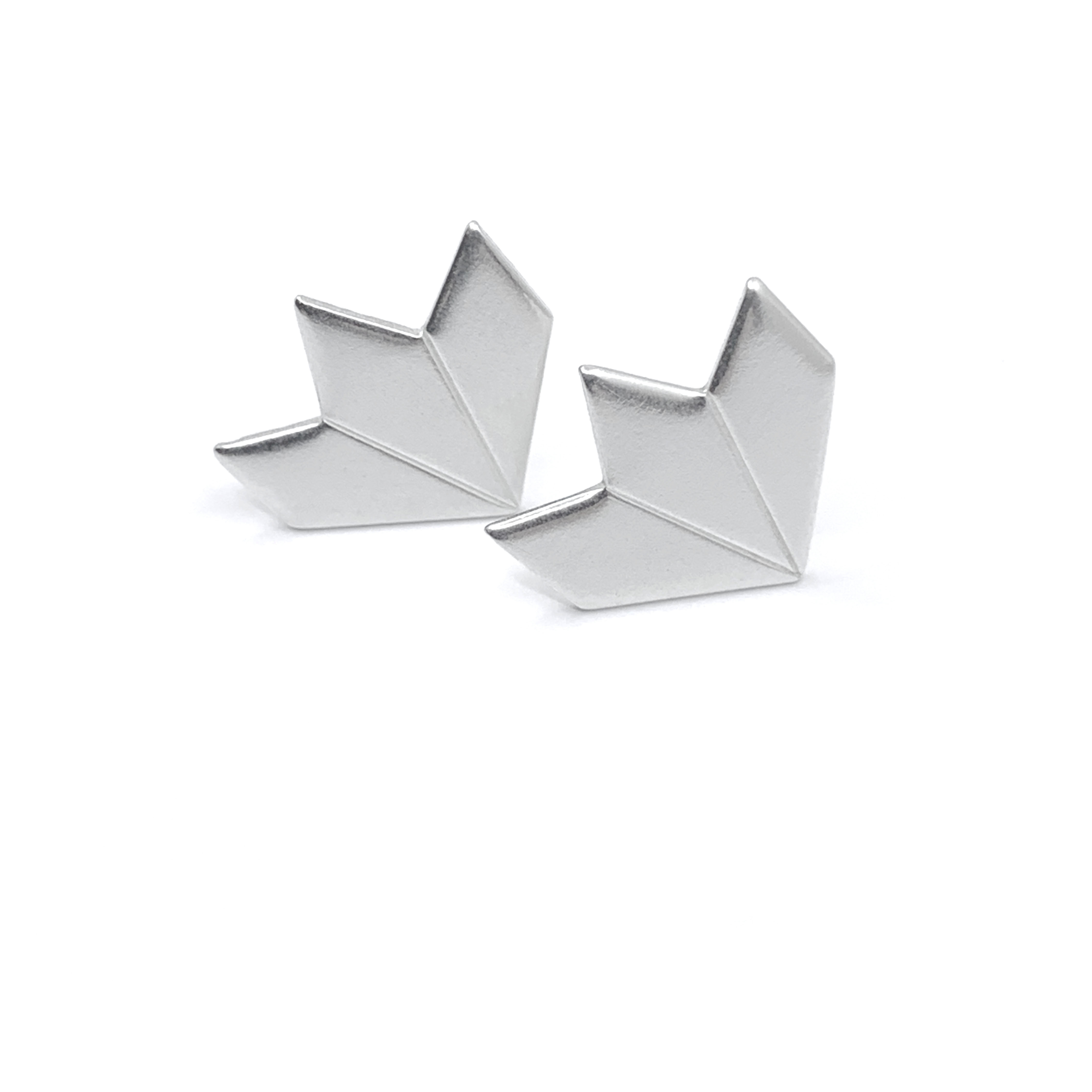 Star fragment small silver studs