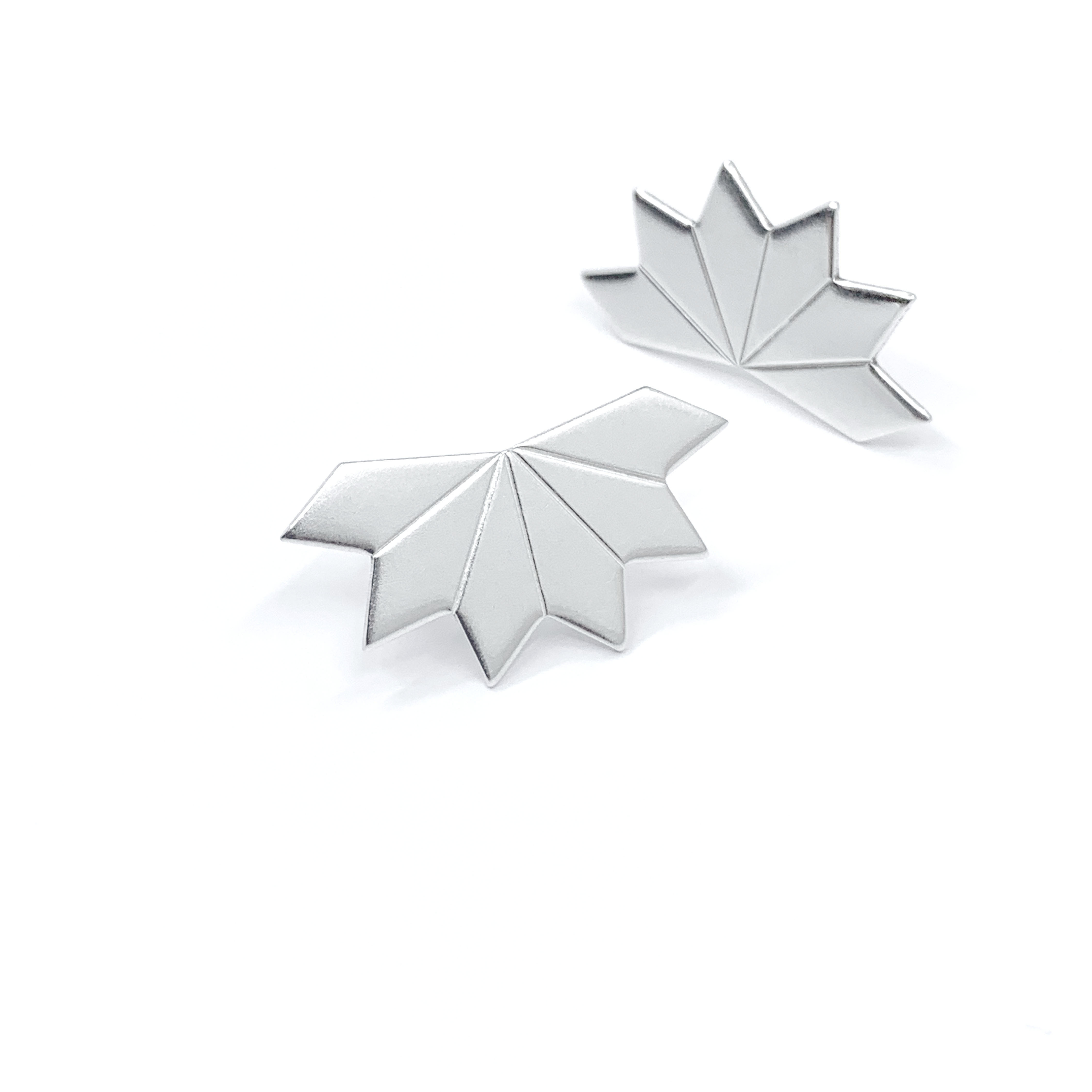 Star fragment silver studs
