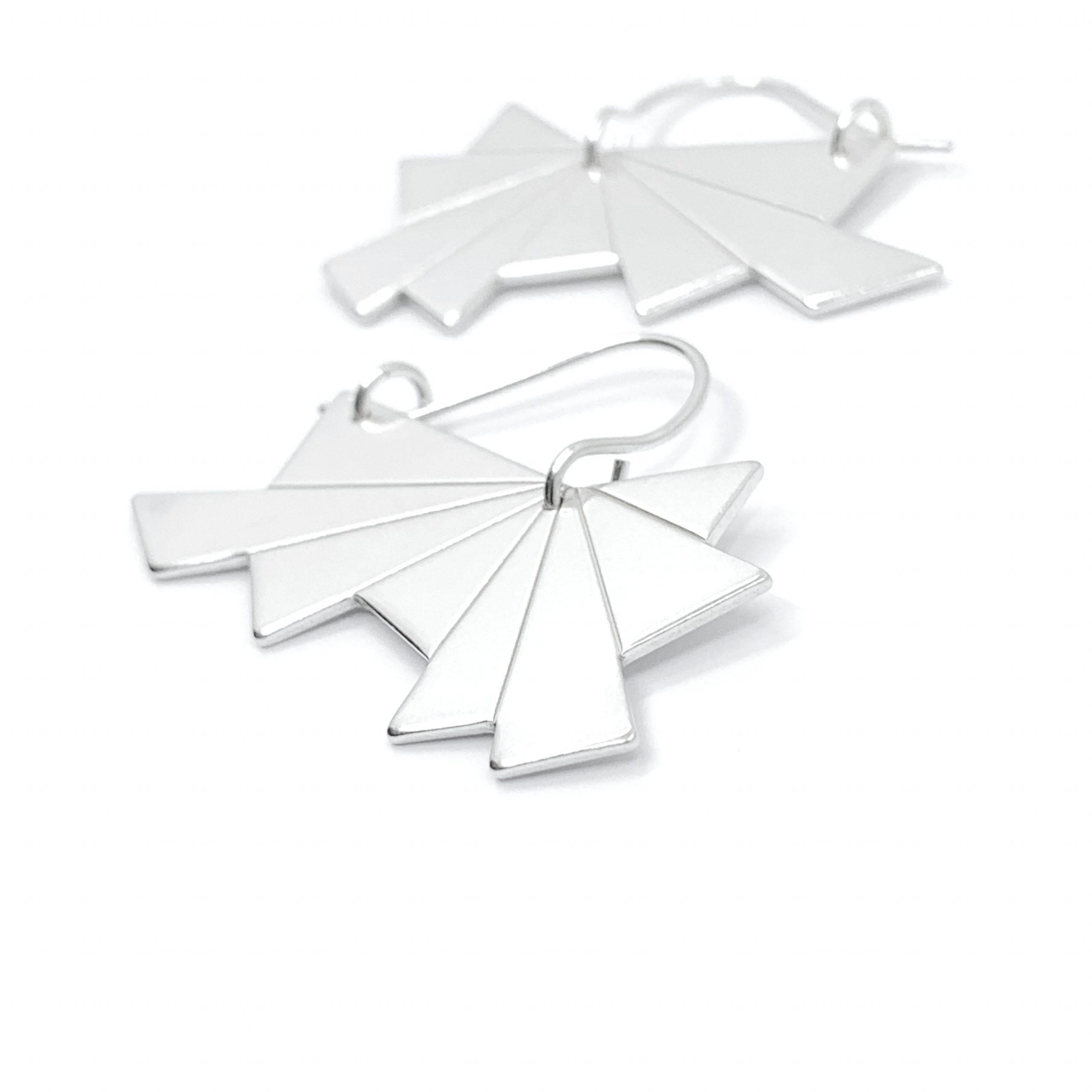 Dawn silver earrings