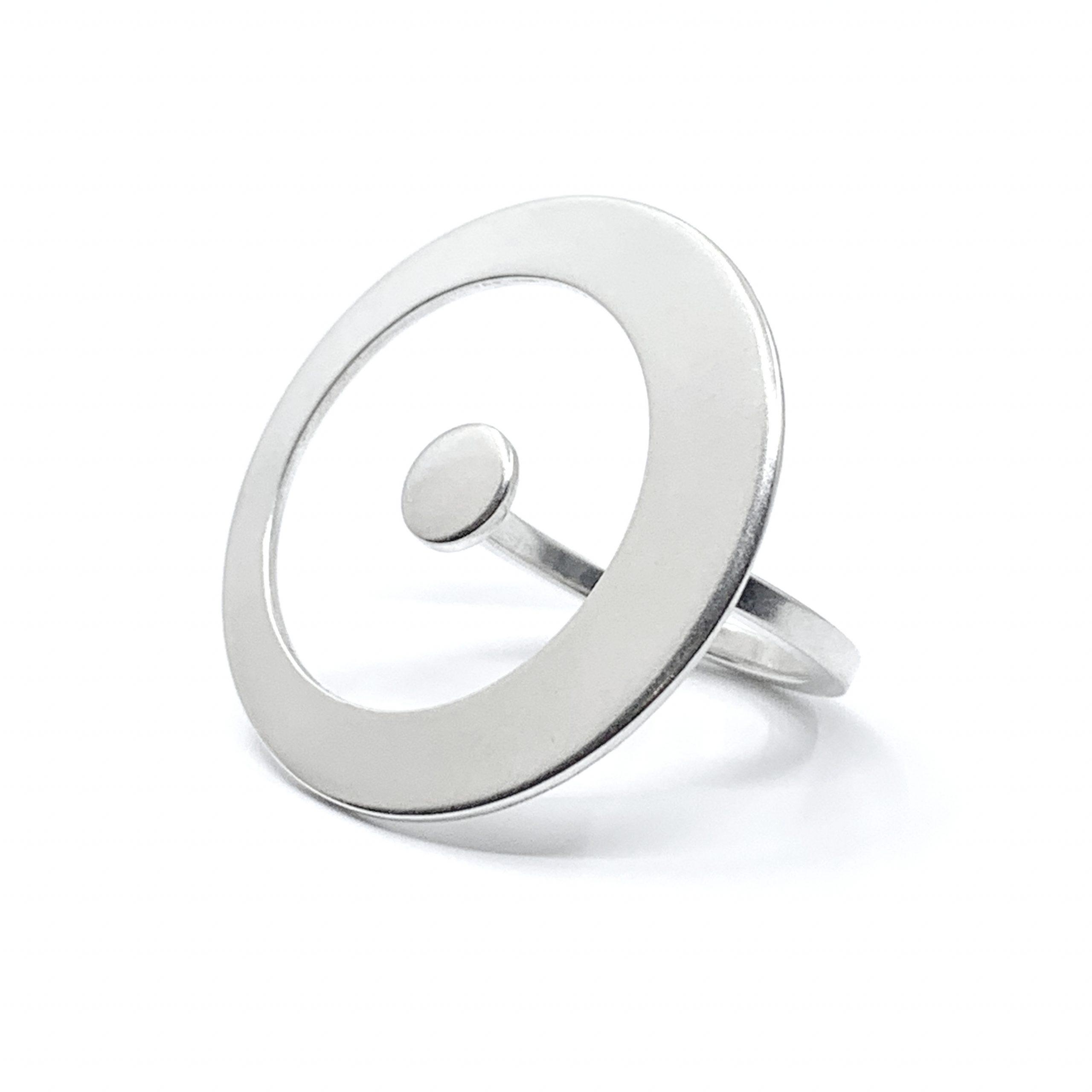Solar system – orbit silver ring