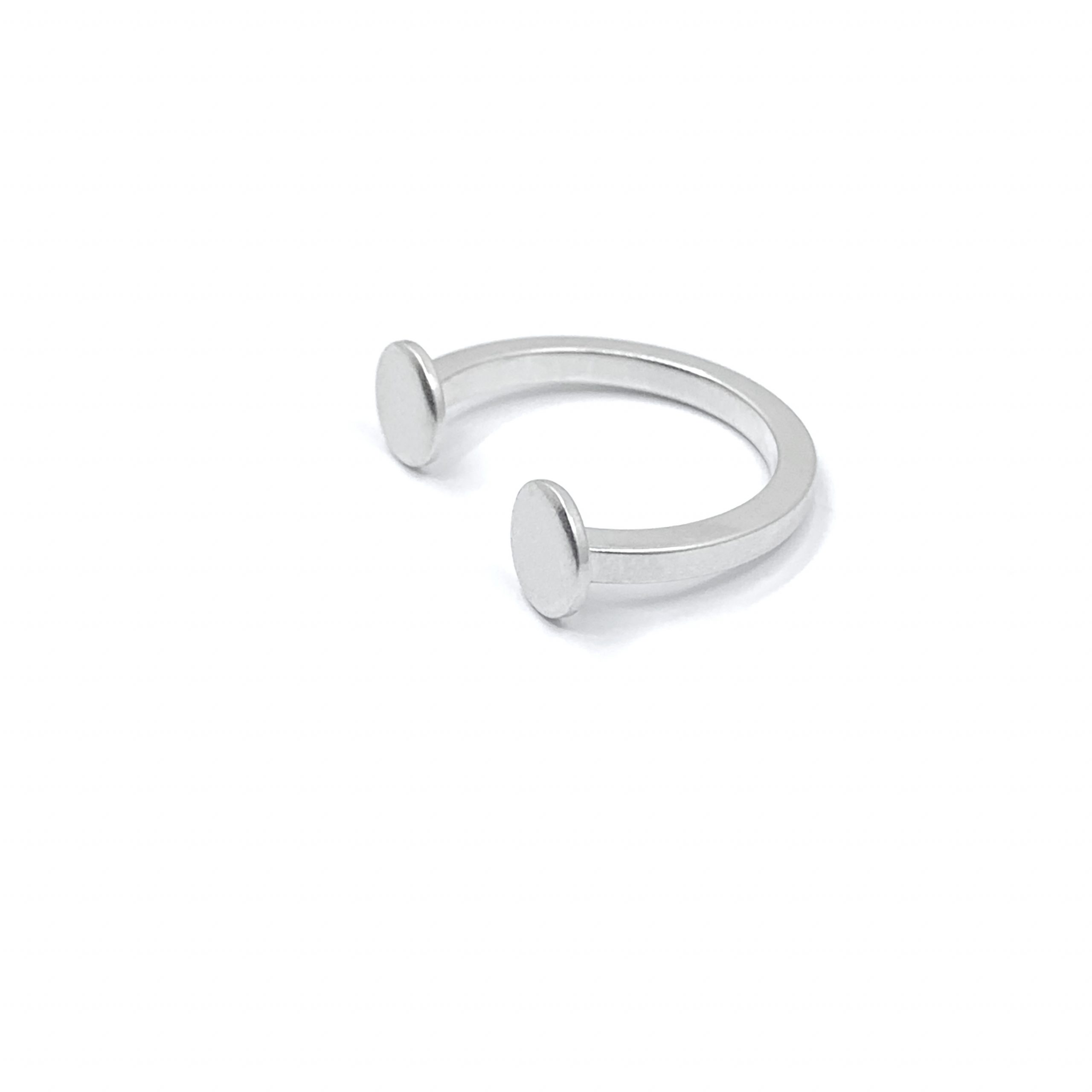 Solar system – tiny planets silver ring